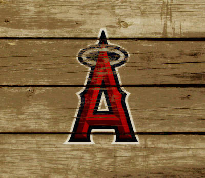 Diamondback Mixed Media - The Los Angeles Angels Of Anaheim by Brian Reaves