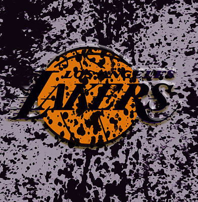 Shaquille Mixed Media - The Los Angeles Lakers B2a by Brian Reaves