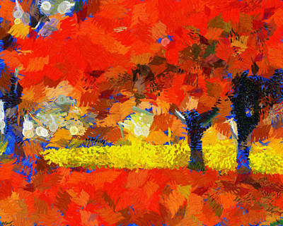 The Love Trees - Painting Original by Sir Josef Social Critic - ART