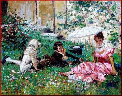 Het Painting - The Lovers by Depaoli
