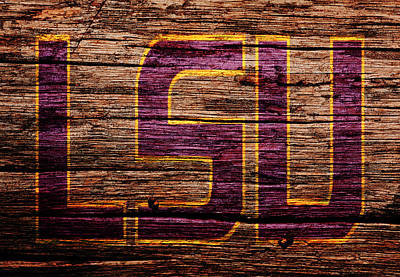 Louisiana State University Mixed Media - The Lsu Tigers 1b by Brian Reaves