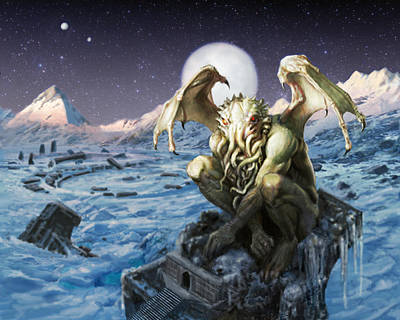 Cthulhu Painting - The Lurker From The Darkness by Armand Cabrera