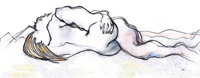 The Lute - Kama Sutra Print by Carolyn Weltman