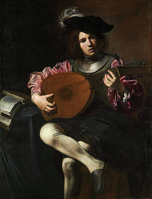 Playing Painting - The Lute Player by Valentin de Boulogne