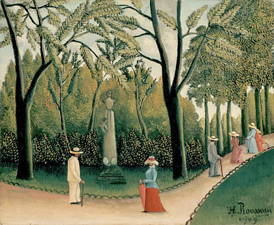 Pseudo Painting - The Luxembourg Gardens, Monument To Chopin by Henri Rousseau