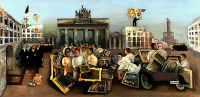 Berlin Germany Painting - The Mad Square by Mountain Dreams
