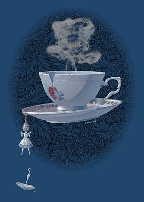 The Mad Teacup - Royal Print by Swann Smith
