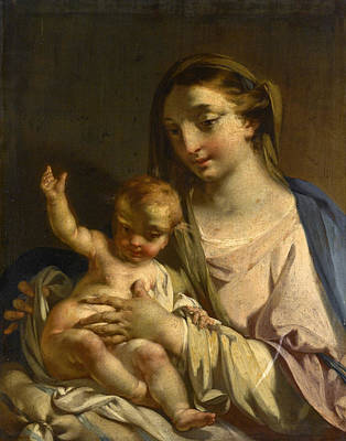 Painting - The Madonna And Child by Francesco Capella