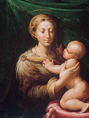 Painting - The Madonna And Child by Parmigianino