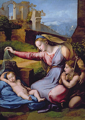 The Madonna Of The Veil Print by Raphael