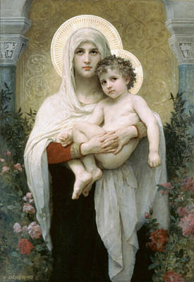 William-adolphe 1825-1905 Painting - The Madonna Of The by William