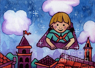 Magic Carpet Ride Painting - The Magic Blanket Aceo by Cara Brown