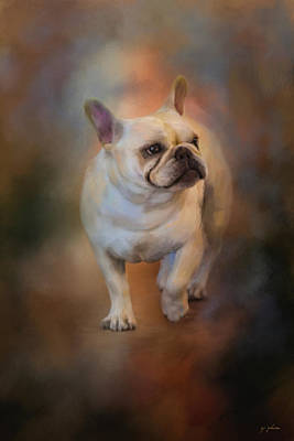 Bulldog Painting - The Magic In Life by Jai Johnson