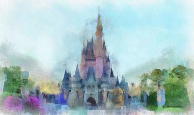 The Magic Kingdom Castle Wdw 05 Photo Art Print by Thomas Woolworth