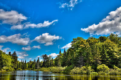 Aspens Photograph - The Majestic Moose River At Singing Waters by David Patterson