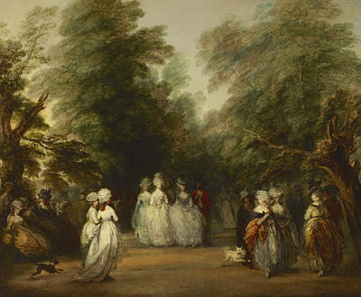 The Mall In St. James's Park Print by Thomas Gainsborough