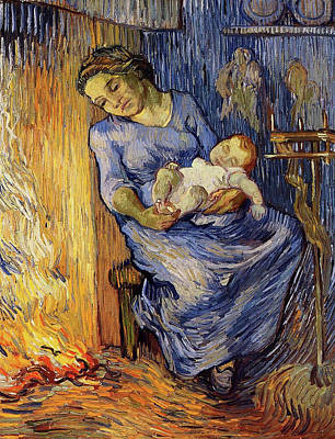 Impressionism Painting - The Man Is At Sea, After Demont-breton by Vincent van Gogh