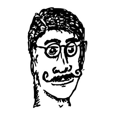 Glass Art Drawing - The Man Of Mustache Dreams by Karl Addison