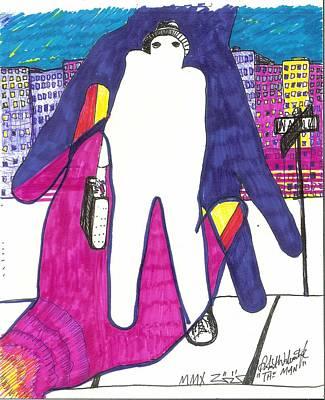 Art Brut Drawing - The Man by Robert Wolverton Jr