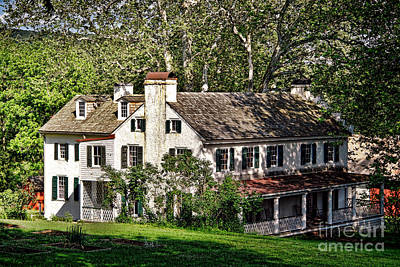 The Mansion At Hopewell Furnace Print by Olivier Le Queinec