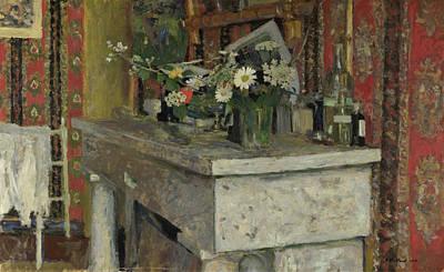 Blossom Painting - The Mantelpiece by Edouard Vuillard
