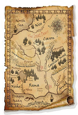 The Map - The Stones Of Caron Original by Michelle Rene Goodhew
