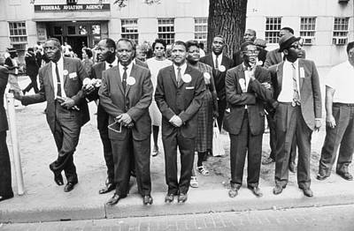 African-american Photograph - The March On Washington  Federal Aviation Agency Workers Watch The Marchers On Constitution Avenue by Nat Herz