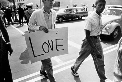The March On Washington   Love Print by Nat Herz