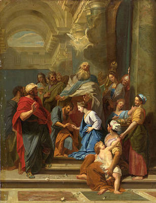 Painting - The Marriage Of The Virgin by Studio of Jean-Baptiste Jouvenet
