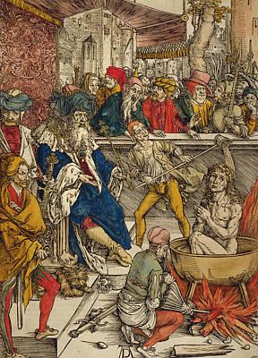 The Martyrdom Of St John Print by Albrecht Durer or Duerer