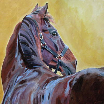 Horse Race Painting - The Masters by Anne West