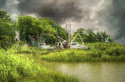 John Adams Painting - The Me And Matt - Apalachicola Florida by John Adams