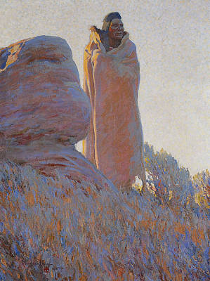 Dixon Painting - The Medicine Robe by Maynard Dixon