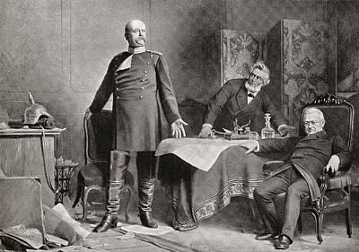 Historian Drawing - The Meeting Between Otto Von Bismarck by Vintage Design Pics
