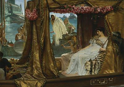 The Meeting Of Antony And Cleopatra Print by Lawrence Alma-Tadema