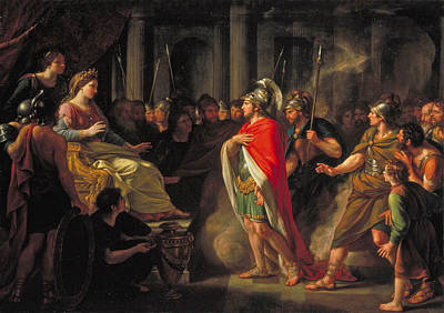 Aeneas Painting - The Meeting Of Dido And Aeneas by Nathaniel Dance-Holland