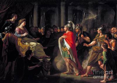 Nathaniel Painting - The Meeting Of Dido And Aeneas by Sir Nathaniel Dance