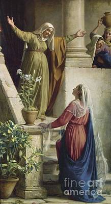 Carl Bloch Painting - The Meeting Of Mary And Elisabeth by MotionAge Designs