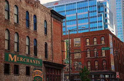 The Merchants Nashville Print by Susanne Van Hulst