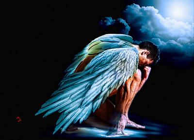 Angel Painting - The Messenger by Adam Vance