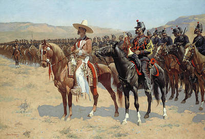 The Mexican Major Print by Frederic Remington