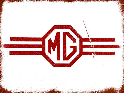 Badge Photograph - The Mg Sign by Mark Rogan