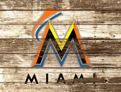 Diamondback Mixed Media - The Miami Marlins by Brian Reaves