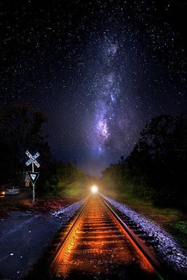The Midnight Milky Way Express Print by Mark Andrew Thomas