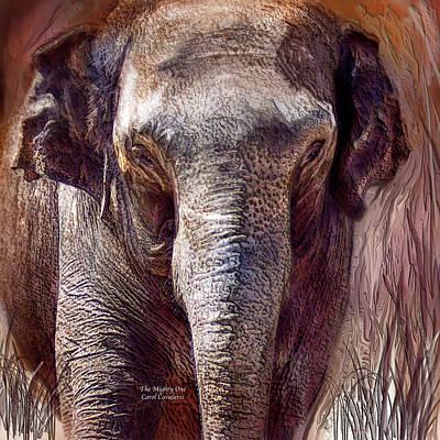 Elephant Mixed Media - The Mighty One by Carol Cavalaris