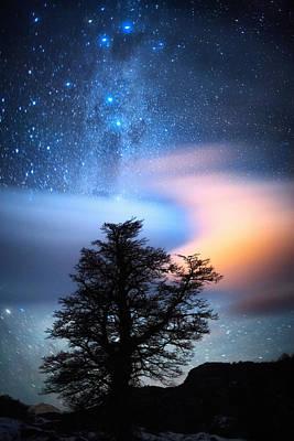 The Milky Way Print by Ricardo La Piettra