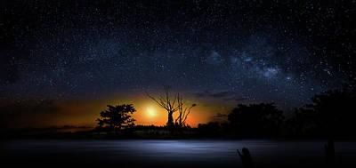 Beauty Mark Photograph - The Milky Way Tree by Mark Andrew Thomas