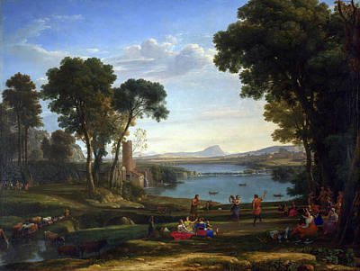 Agriculture Painting - The Mill by Claude Lorrain