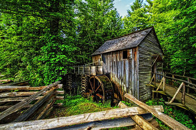 Mill In Woods Photograph - The Mill by Debra and Dave Vanderlaan