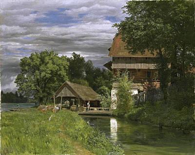 Robert Zuend Painting - The Mill Of Rathausen by Robert Zuend